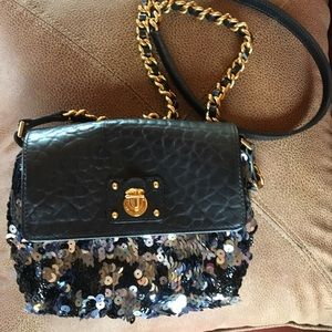 Marc Jacobs sequined mini Debbie black bag